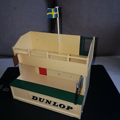 Scalextric A203 Dunlop Owners Stand & Pit In Original Box • 25£