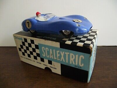 Scalextric Lister Jaguar Mm/e1 Blue With Instructions • 45£