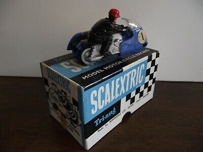 Scalextric Typhoon Motor Cycle Mm/b1 Blue Boxed. • 70£