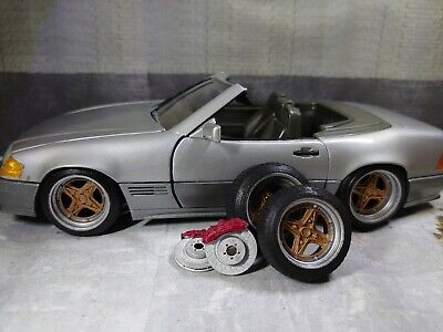 1/18 Riverside Wheels Tyres And Brake Disks For Diorama Or Diecast UNPAINTED • 10£