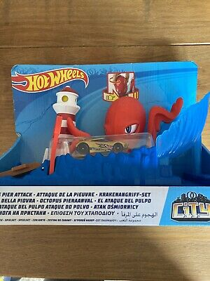Hot Wheels - City Octopus Pier Attack Play Set (NEW BOXED) • 2.20£