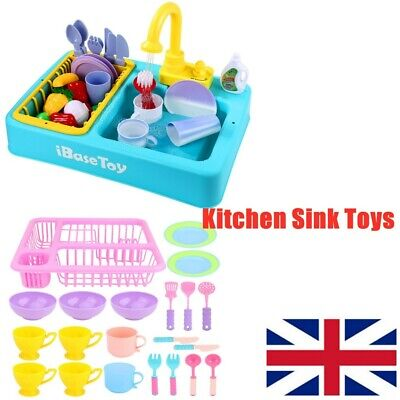 Simulation Electric Dishwasher Sink Toys For Pretend Play Kitchen Kids Toys UK • 14.79£
