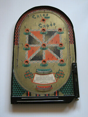 Vintage 1930'/40's USA Bagatelle/pinball 'Criss Cross' Scarce. • 95£