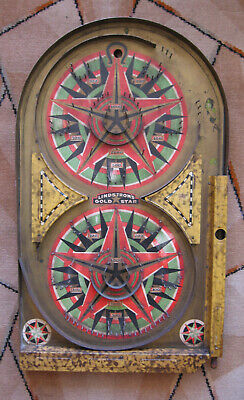 Vintage 1930's  USA Bagatelle/pinball Lindstrom 'Gold Star' Great Design. • 70£