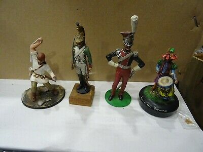 A Collection Of 4 Rare Hand Painted Quality Metal Figures • 24.95£