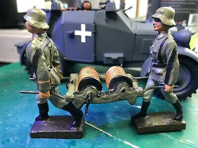 German Field Radio Cable Carrying Team  1/24  - 70 Mm Made By Lineol  • 78.50£