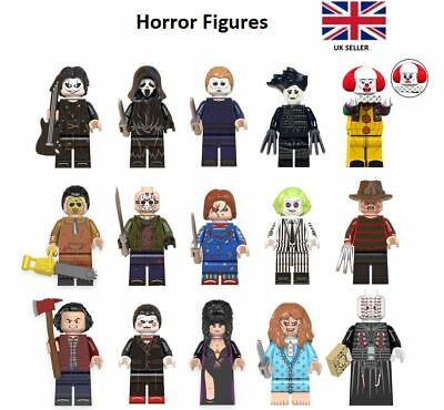 Horror Mini Figures Freddy Krueger Michael Myers Beetlejuice Chucky Friday 13th • 14.99£
