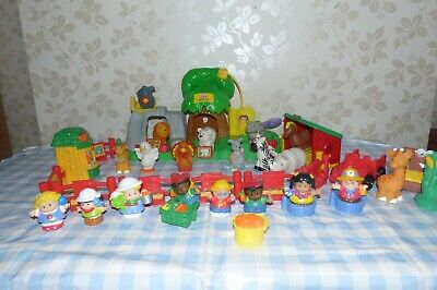 Fisher Price Little People Zoo, Animals, Buildings, People, Cars Etc..Toy Bundle • 20£