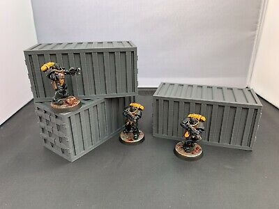 3D Printed Shipping Containers Scatter Terrain For 28mm Warhammer 40k & Killteam • 11.99£