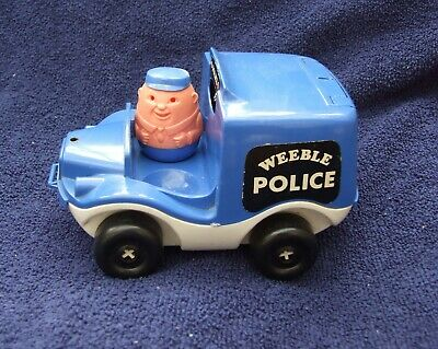 Weebles Police Vehicle With Policeman Driver And Clicking  Pushalong Action • 4.99£