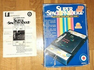 SUPER SPACE INVADER 2  Entex Electronics Game 1981 *Working, Original Packaging* • 50£