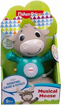 Fisher-Price Linkimals ~ Musical Moose ~ Interactive Baby Toy  • 14.99£