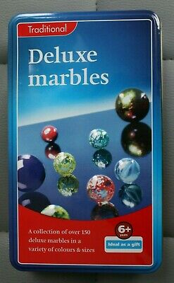 Traditional Deluxe Marbles In A Tin (approx. 200) • 2.99£