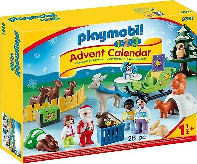 Playmobil - 1.2.3 9391 Advent Calendar, Christmas In The Forest,  Ages 18 Months • 34.99£