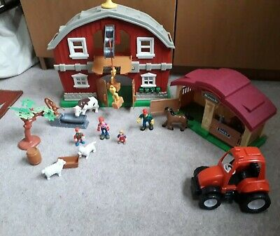 Kids 19 Piece Farm  Play Set Figures Tractor Animals Accessories My Country Farm • 3.50£