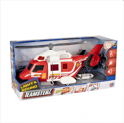 Teamsterz Fire Helicopter Sounds Boys Toys Xmas Gift • 12.25£