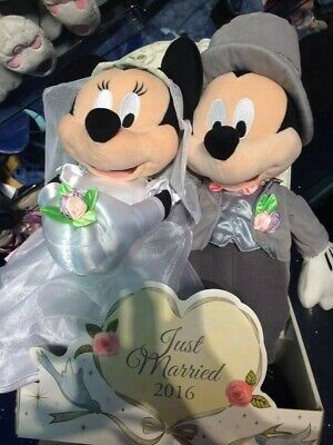 Mickey And Minnie 2016 Wedding Teddies  • 15£