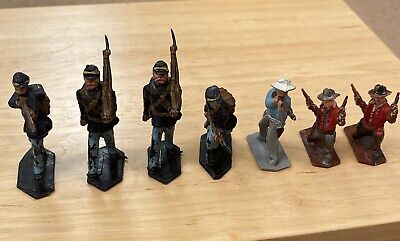 Vintage Lone Star Toy Union Soldiers & Cowboys • 5.59£