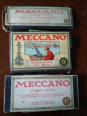 Meccano Nickel Outfits 0, 0A ,1A • 11.61£