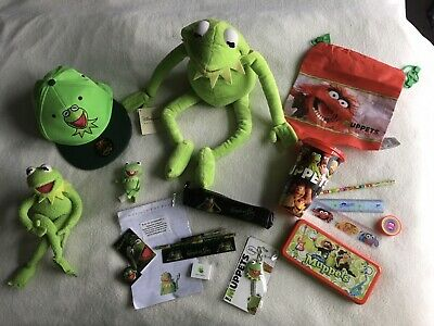 "Kermit Muppets Bundle Inc. Brand New 22"" Kermit Disney Store • 15£"