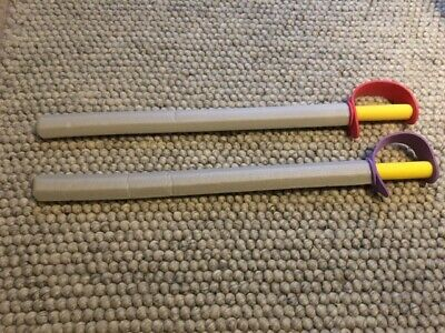 Two Fun Children's Foam Pirate Swords 75cm Long Red And Purple • 2£