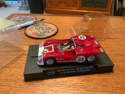 Slot It Alfa Romeo 33/3.   A.de Adamich-H.Pescarolo. • 20£