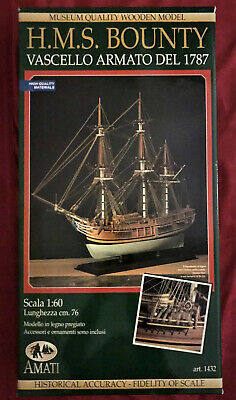 AMATI HMS Bounty Scala 1:60 Wooden Model Kit • 150£