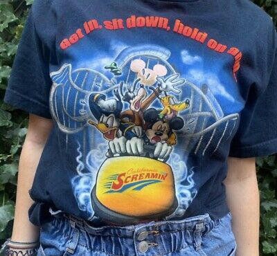 Disneyland Vintage California Screamin Tshirt RARE • 20£