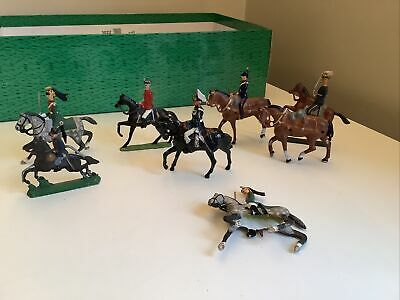 8x Old Vintage Painted Lead Toy Soldiers On Horseback • 4.99£