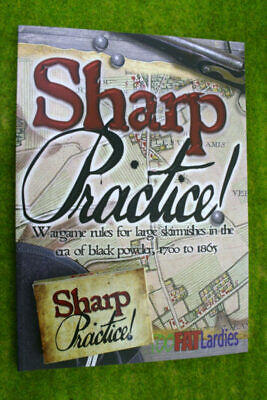 SHARP PRACTICE Book And Card Set Wargame Rules For Black Powder Skirmishes • 30£