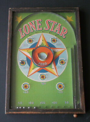 Vintage  Gropper 'LONE STAR' 1930's USA Bagatelle/pinball Scarce!! • 80£