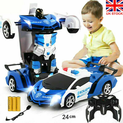 Toys For Kids Transformer RC Robot Car 2 IN1 Remote Radio Control Xmas Gifts UK • 12.99£