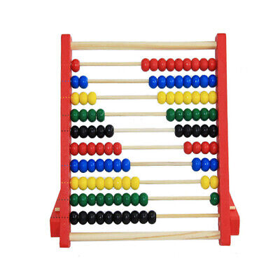 20cm Wooden Kids Bead Abacus Counting Frame Educational Learn Maths Toy YMZ • 5.99£