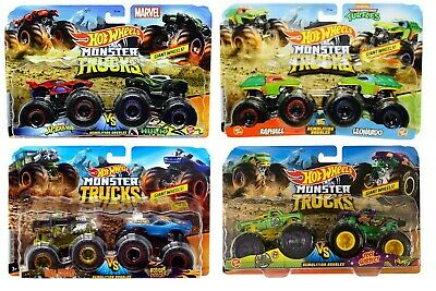 Hot Wheels Monster Trucks 1:64 Demolition Doubles 2-Pack - Choose Yours Now • 12.98£