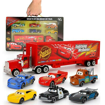 Cars 3 Lightning McQueen Racer Car&Mack Truck Kids Toy Collection Set Xmas Gifts • 12.99£
