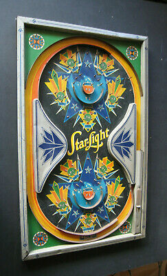 Vintage 1930/1940 Durable 'Star-Light' Pinball Bagatelle. Fab Graphics! • 95£