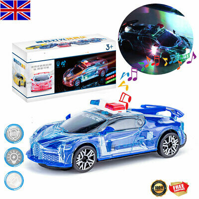 Toys For Kids Gift Police Car LED Light Boys 1 2 3 4 5 6 Year Old Cool Xmas Gift • 7.58£