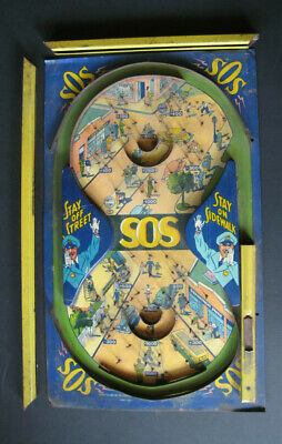 Vintage 1930/1940 Durable 'SOS' Pinball Bagatelle. Not Complete But Rare. • 80£