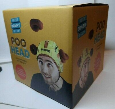 Poo Head 3 Stick To Poo's Plus Hat - Throw Them At Person Wearing Hat Party Game • 9.99£