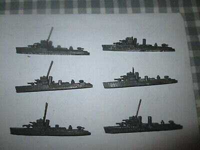 6 X Lead Destroyers/Battleships-Unboxed • 7.50£