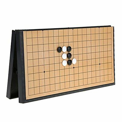 Go Game Set Magnetic Collapsible Chess Board Weiqi Educational Games Go • 40.99£