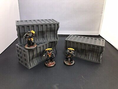 3D Printed Damaged Shipping Containers Scatter Terrain For 28mm Warhammer 40k  • 11.99£
