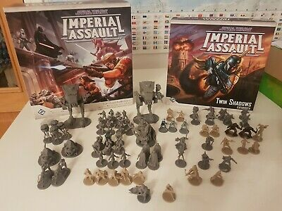 STAR WARS IMPERIAL ASSAULT Core Box + Twin Shadows + 14 Unit Expansions! • 100£