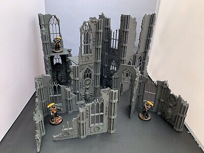 Large 3D Printed Bundle Of Gothic Killteam Ruins Terrain For 28mm Warhammer 40k  • 49.99£