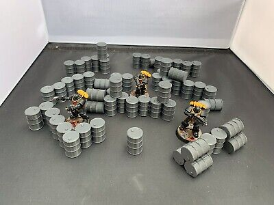 3D Printed Barrels And Barricades Terrain For 28mm Warhammer 40k And Killteam • 10.99£