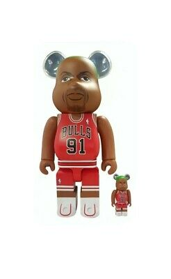 Dennis Rodman Chicago Bulls Bearbrick Medicom Toy Be@rbrick • 210£