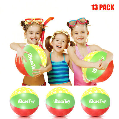 IBASETOY 13pcs Inflatable Beach Ball Summer Funny Water Fun Play Pool Party Toy • 6.59£