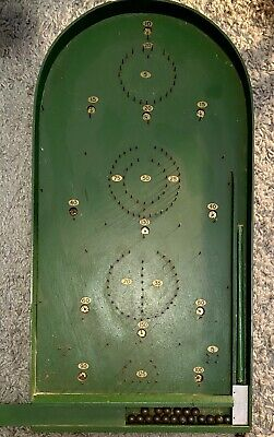"Antique  Corinthian"" Master Board Game Bagatelle With Cue, Balls And Scoreboard • 110£"