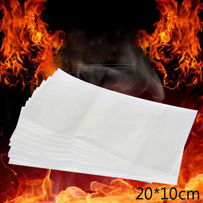 10Pcs 20*10cm Fire Paper Flash Flame Paper Fire Paper Magic Props Effect JQJ • 5.51£