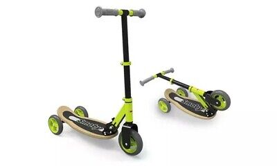 Smoby 2 In 1 Reversible Scooter Unisex Ride On Toy Kids Children - Green • 39.99£